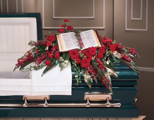 blue and orange casket spray - Google Search