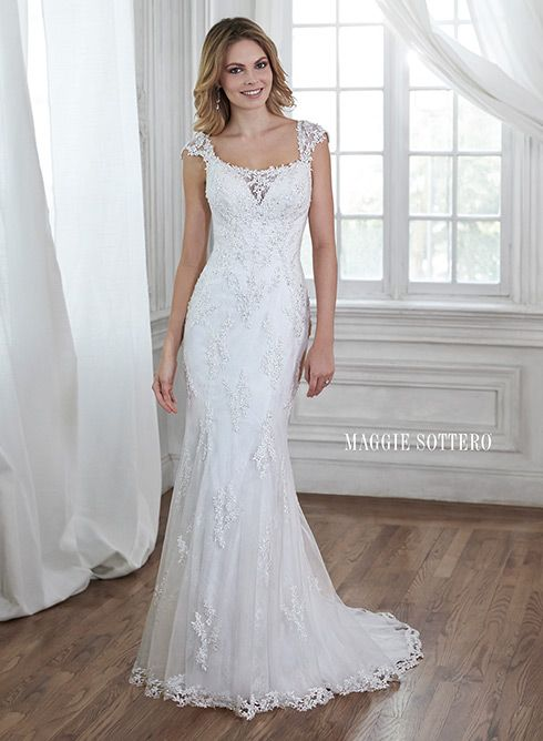 Leticia - by Maggie Sottero #maggiesottero #lace #beaded #lowback #weddingdress #weddings