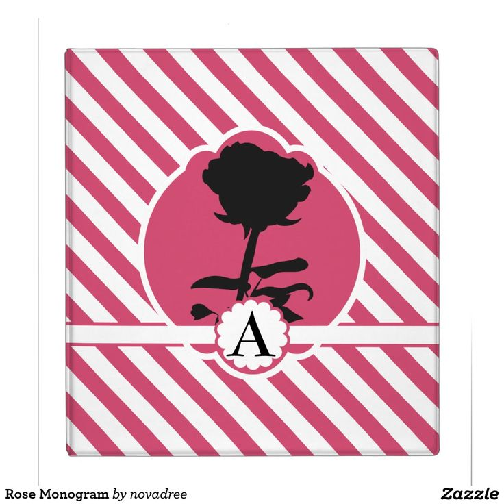 Rose Monogram Binders