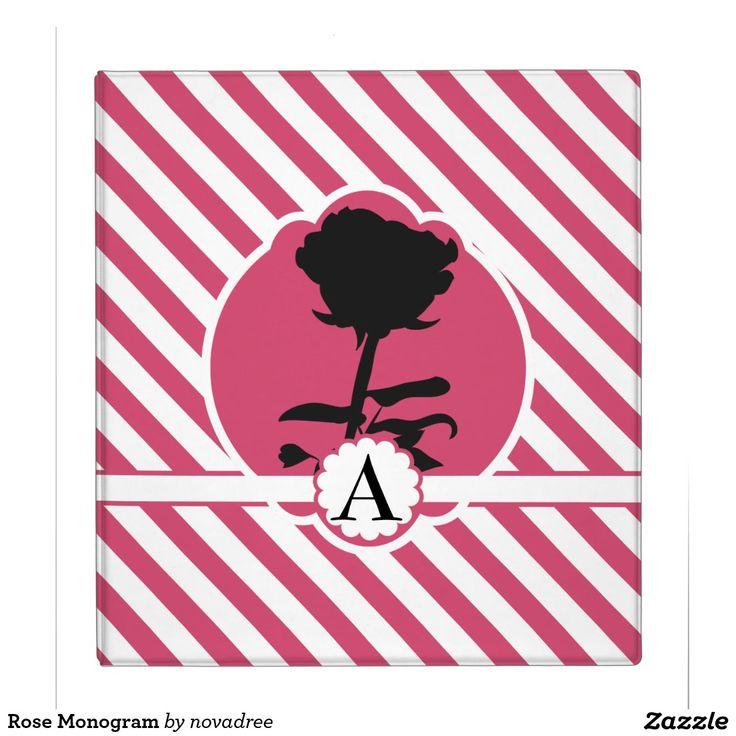 Rose Monogram Binders
