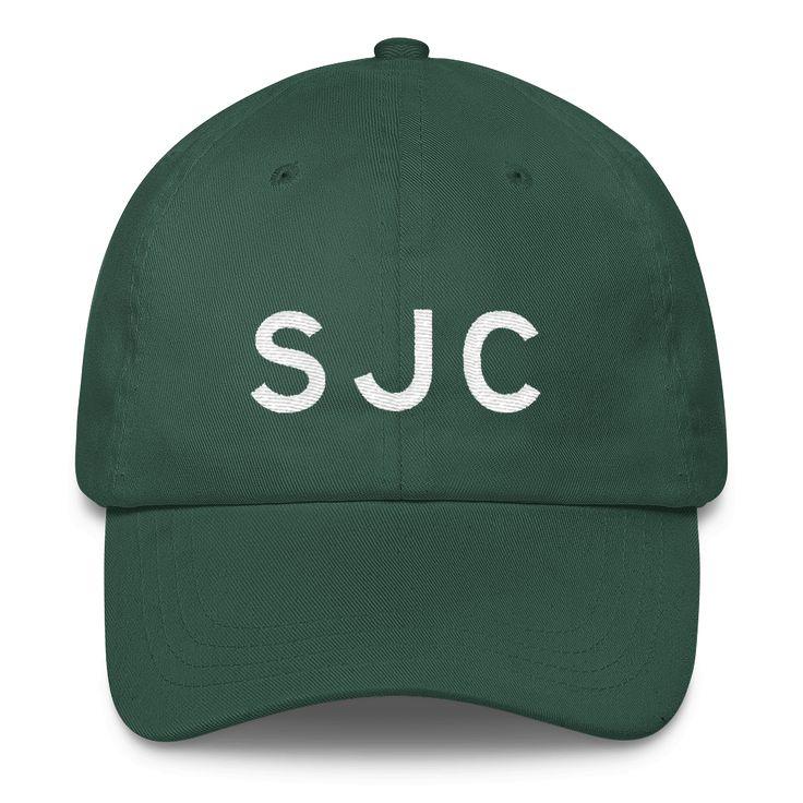 SJC San Jose Airport Code Classic Dad Cap