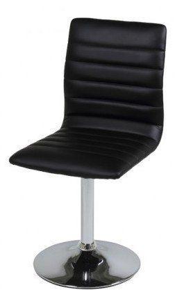 Tanum+Spisebordsstol+-+Sorte+spisestuestole+med+læderlook.+Flotte+spisestuestole+til+køkkenet+eller+spisestuen+med+god+siddekomfort.+Stolene+kan+nemt+rengøres+med+en+hårdvreden+klud.+Eksklusivt+og+lækkert+design.