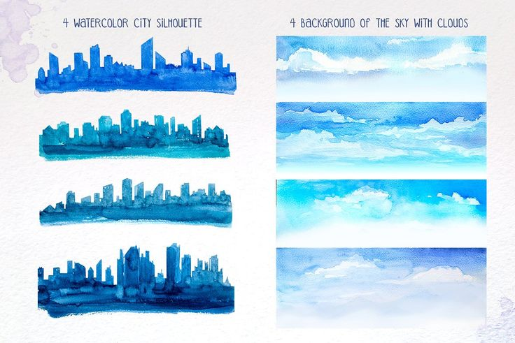 City Builder. Watercolor. by AlexGreenArt on @creativemarket