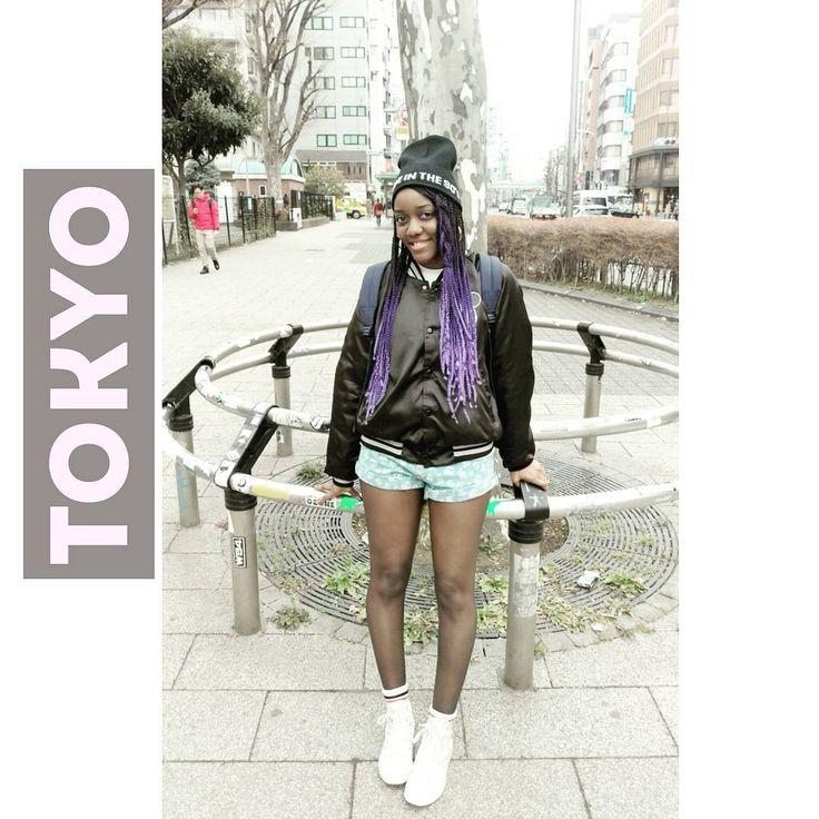 """Aki R (@akiautumn22) on Instagram: """"Throw back to Tokyo 🇯🇵 早く東京に戻りたい😙 #IMissJapan #ootd #style #blogger #fashion #braids #purple…"""""""
