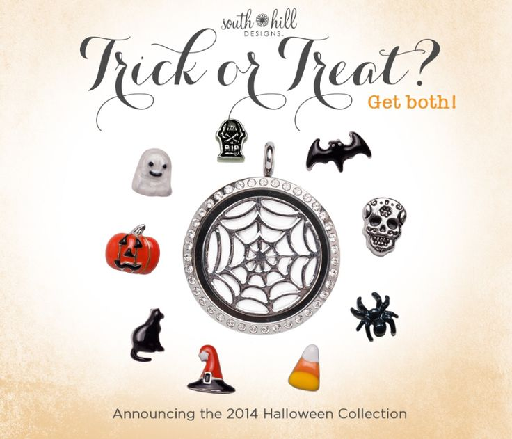 Cool new 2014 Halloween charms and screens. Shop at www.southhilldesigns.com/brookelea