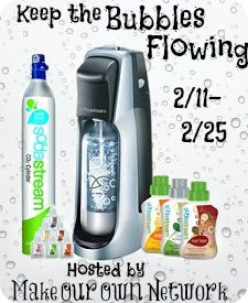 Keep The Bubbles Flowing Giveaway – Ends 2/25/14  Enter to win a SodaStream machine & more! http://mysillylittlegang.com