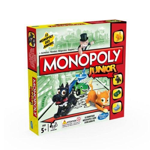 Cette version junior du Monopoly reprend le principe et les règles de la version classique. Les cases spéciales sont adaptées aux enfants, elles deviennent un zoo, un bowling, une animalerie, une pizzeria et un magasin de bonbons. Les pions sont un chien, un chat, une voiture et un bateau. Les joueurs apprennent à négocier et à réaliser des transactions.