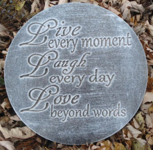 Garden stones with sayings for Garden stones with sayings