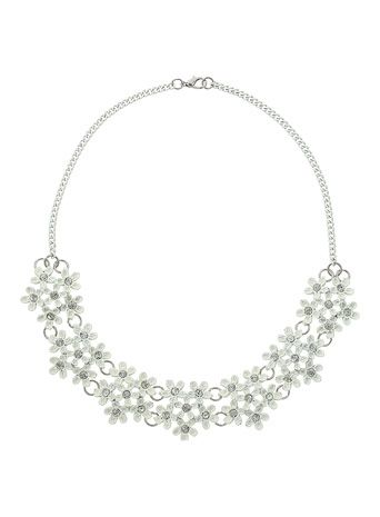Stone Flower Cluster Necklace