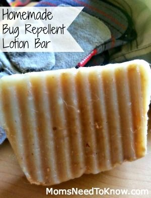 Make Your Own Bug Repellent Lotion Bar - looks like a great recipe, but I would also add some Neem essential oil, which is a great insect repellent also.