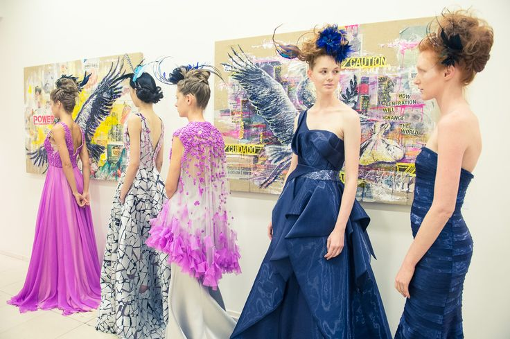 Backstage - See the entire  #PeterLangner SS2016 Couture Collection at our official website: http://www.peterlangner.it