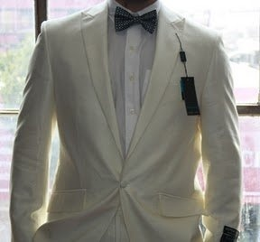 One Button Peak Lapel Mens Tuxedo Suit