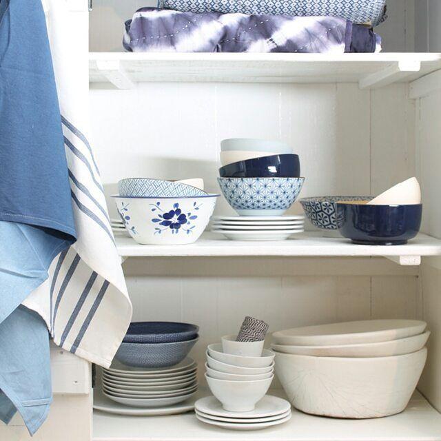 Zomers blauw #loods5 #home #bowl #white #blue #beach #summer