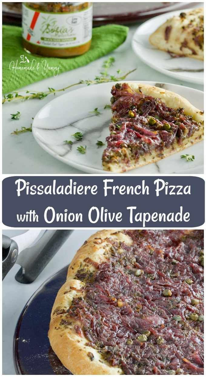 Pissaladiere French Pizza with Onion Olive Tapenade