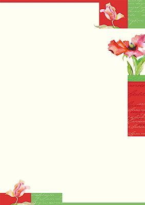 #PC #Briefpapier Blumen in #Aquarell