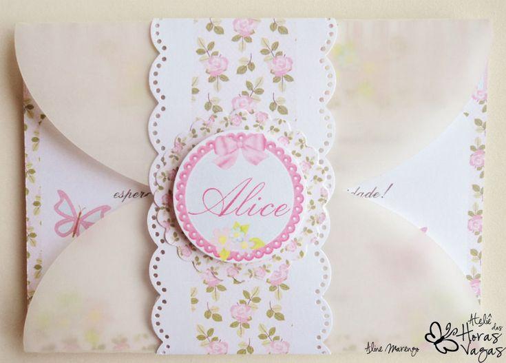 Ateliê das Horas Vagas - Aline Marengo: Convite Floral Provençal - Jardim