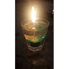 Handmade gel candle with waves with ocean fragrance