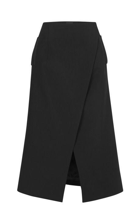 Tuxedo Tailoring Long-Line Wrap Skirt by Josh Goot - Moda Operandi
