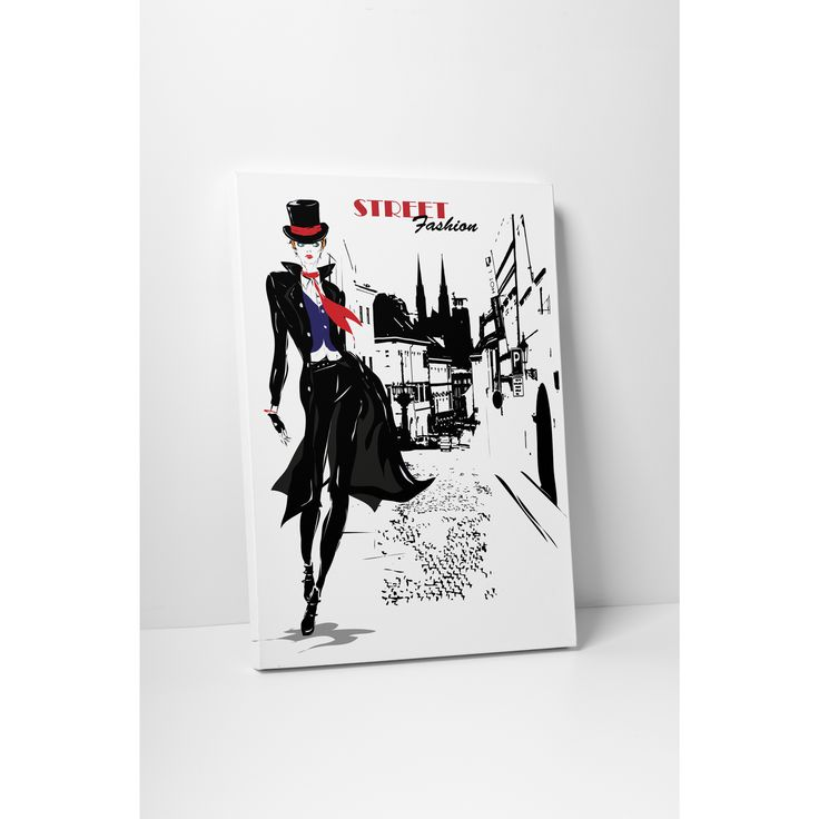 'Street Fashion' Gallery Wrapped Canvas Wall Art