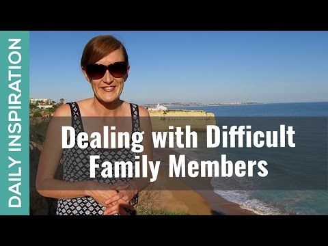 How to Deal with Difficult Family ❤ SUBSCRIBE ❤ http://www.youtube.com/subscription_center?add_user=pinchmelivingdotcom   If you're dealing with difficult family members, this video takes you through a practical guide for navigating those family relationship challenges. Including: a) the essential PARADIGM SHIFTS necessary for you to powerfully deal with difficult family and b) the NEW ACTIONS you can start taking today! Plus click through for free related resources to support you.