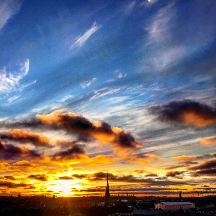 Sunsets in Stockholm city
