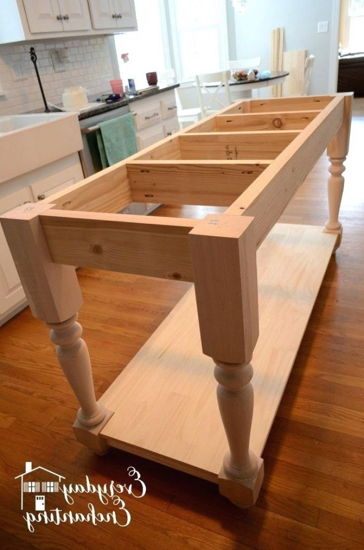Unique And Beautiful Kitchen Island Bases Diy Kitchen Furniture
