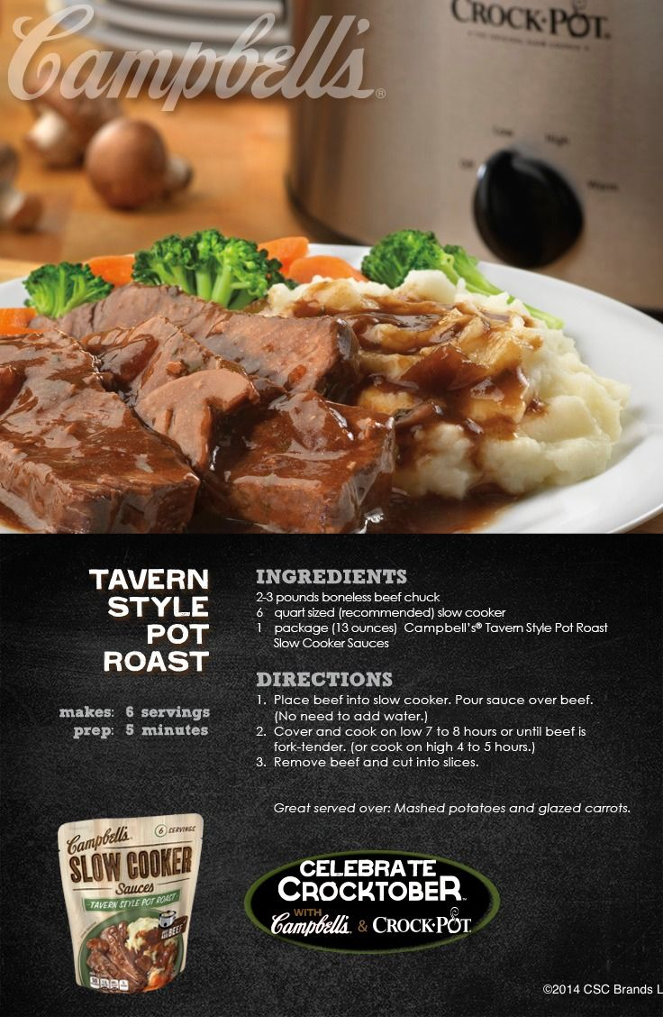 Tavern Style Pot Roast - You have to try this delicious recipe for dinner tonight! #CampbellsSauces #sponsored