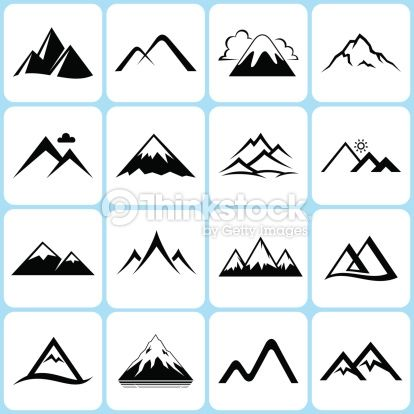 Clip Art Clipart Mountains 1000 ideas about mountain clipart on pinterest scrapbook vector art icons set