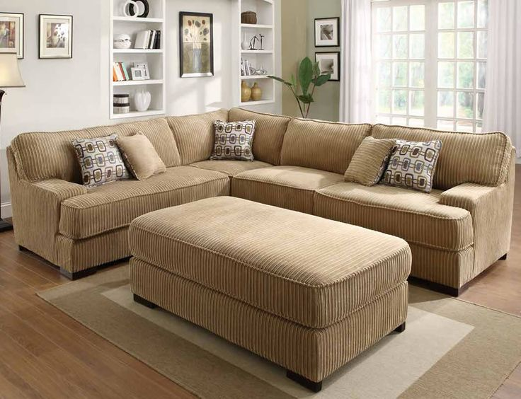 Corduroy Sectional Sleeper Section No Chaise Allows
