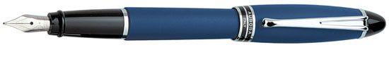 Aurora Ipsilon Satin Blue Fine with Black Rings Point Fountain Pen