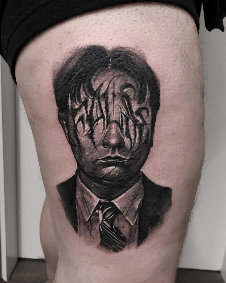 Dwight Schrute tattoo by Anrijs Straume