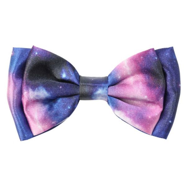 Galaxy Hair Bow   Hot Topic (€2,18) ❤ liked on Polyvore featuring accessories, hair accessories, bows, extras, hats, hair bows and hair bow accessories