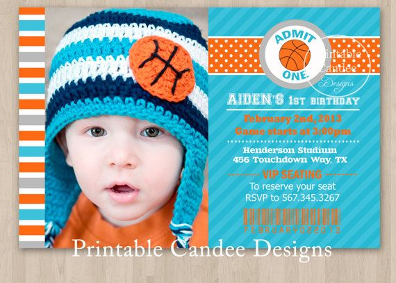 32 best Pjs 1st Bday Basketball theme images – Basketball Birthday Invitations