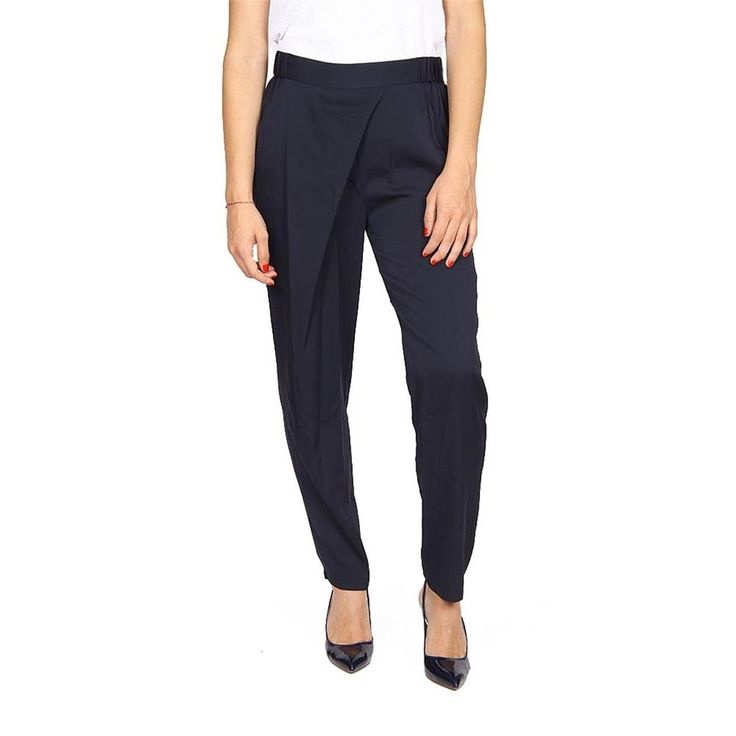 Armani Collezioni Ladies Silk Trousers BLACK #ArmaniCollezioni #CasualPants