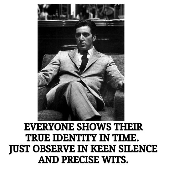 Everyone shows their true identity in time. Just observe in keen silence and precise wits. ; )