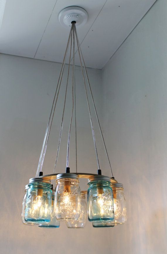 mason jar lighting fixture. beach house mason jar chandelier upcycled hanging lighting fixture direct hardwire bootsngus