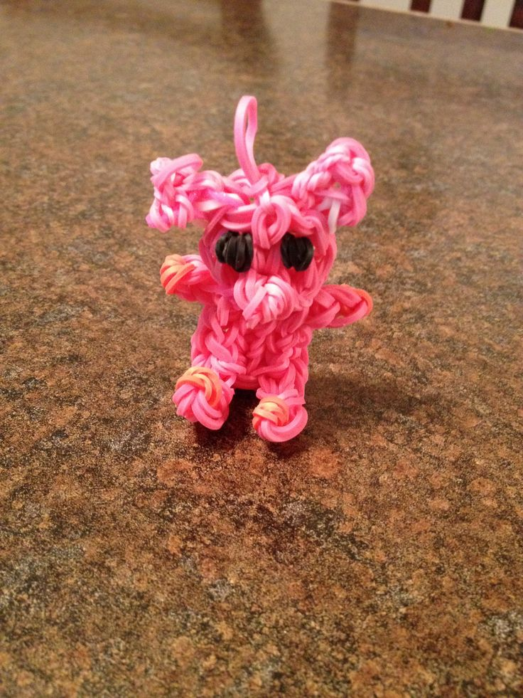 how to make charms out of rainbow loom