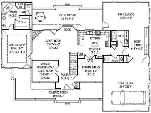 pretty cool garage layout, though I'm still not a fan of the downstairs master