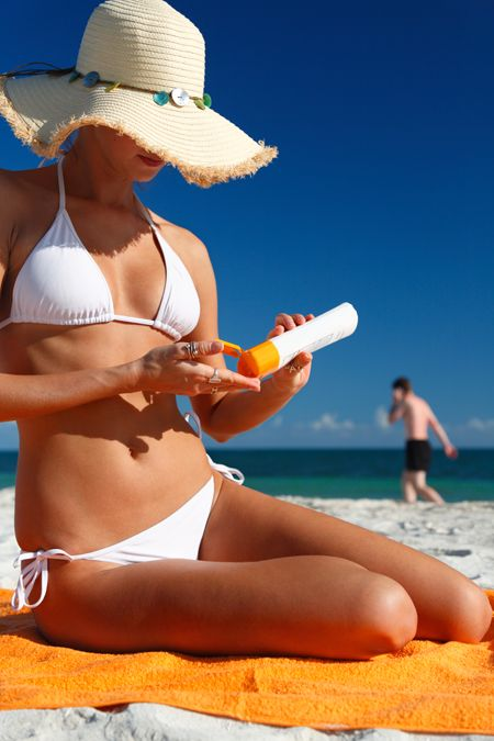 Remember don't forget to put sunscreen on.When you are at the beach.