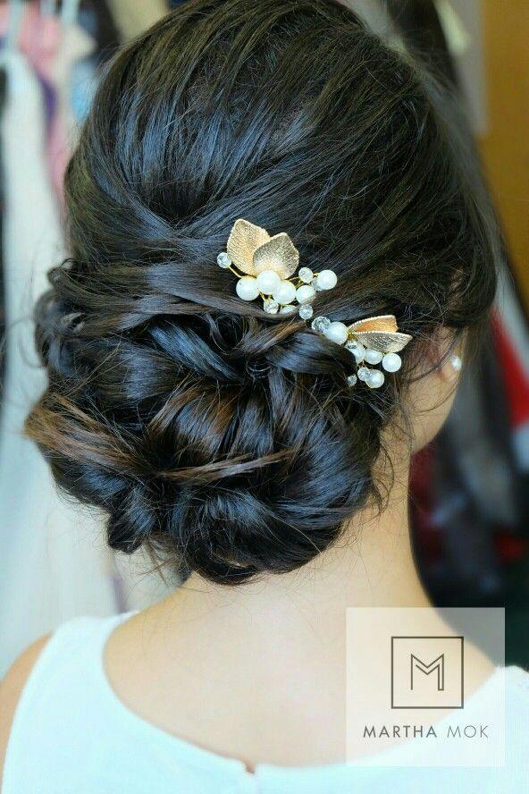 Asian Bridal Makeup . Asian Hair Styling. Asian bride makeup. Asian Wedding makeup and hair styling by Martha Mok.