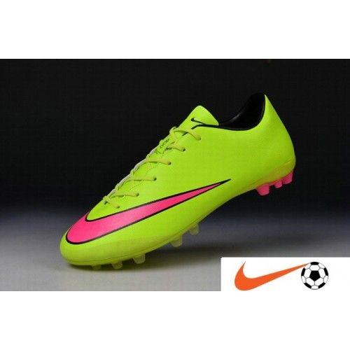 Billige Fodboldstøvler Tilbud - 2016 Nike Mercurial Victory V AG Artificial-Grass Dame\'s Football Fodboldstøvler Grøn Lyserød