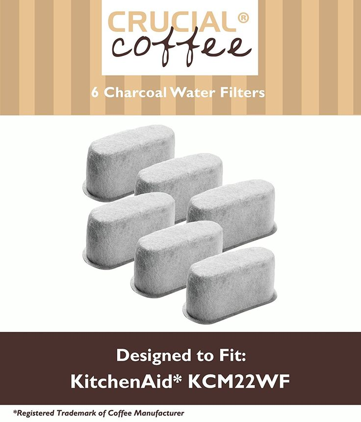 6 KitchenAid Charcoal Coffee Filters Fit KCM222 and KCM223 Water Filter Pod and Coffee Makers * Click image to review more details.