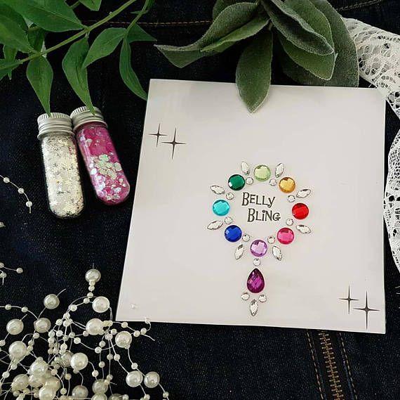 Joelene  Festival stick on body jewels gem cluster belly