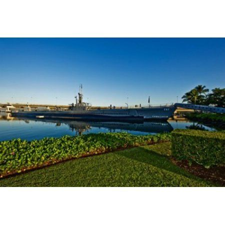 World War II submarine at a museum USS Bowfin Submarine Museum And Park Pearl Harbor Honolulu Oahu Hawaii USA Canvas Art - Panoramic Images (36 x 24)