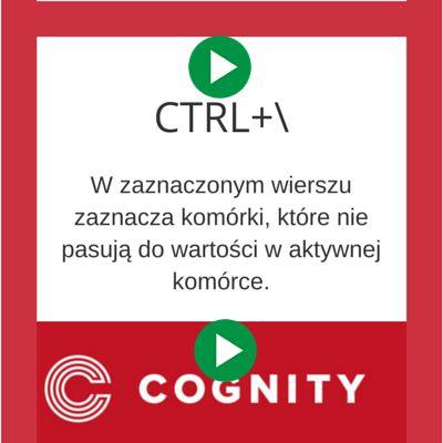 Skrót klawiaturowy w Excelu www.cognity.pl