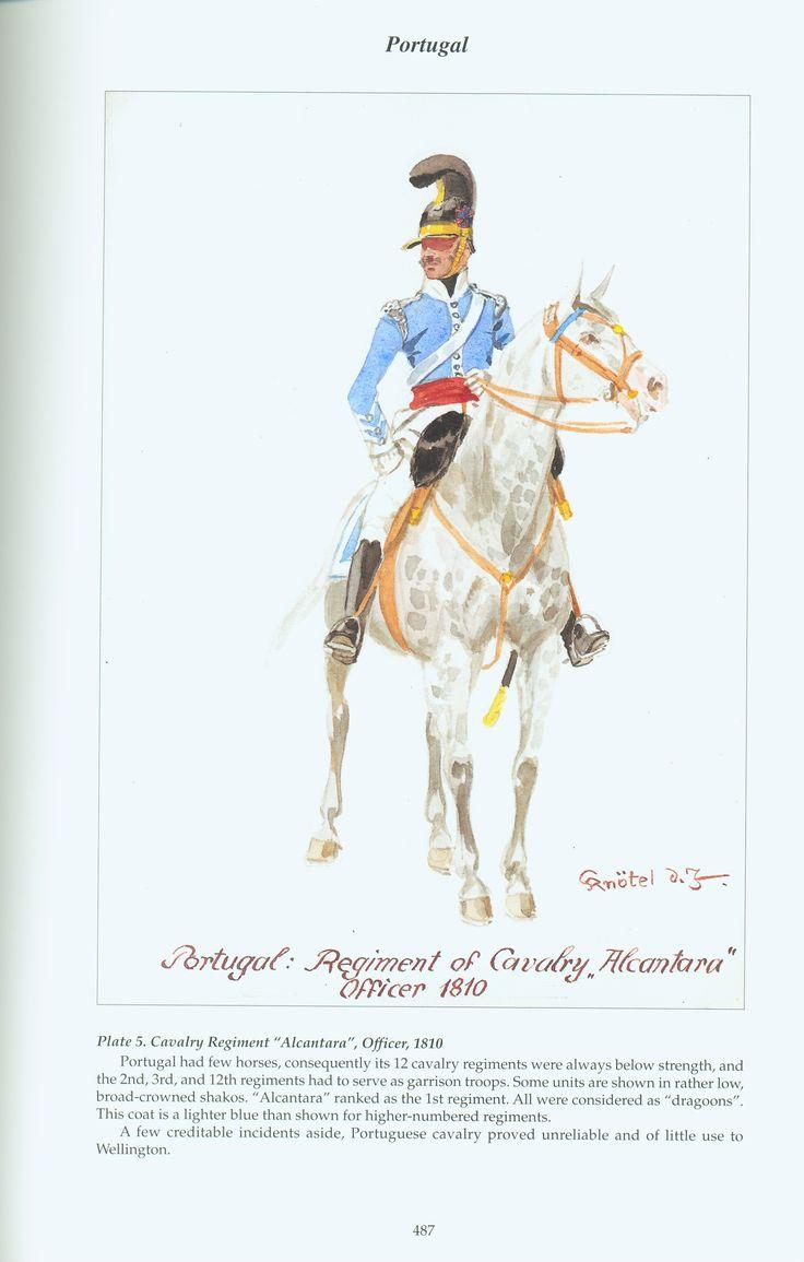 Portugal: Plate 5. Cavalry Regiment Alcantara, Officer, 1810
