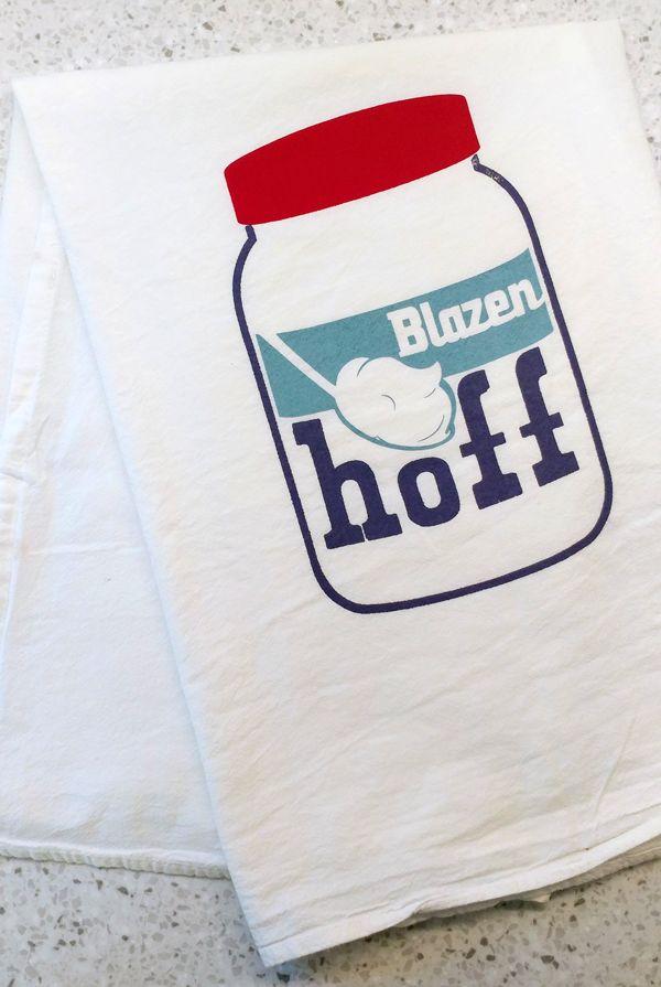 Rusty Blazenhoff's Blazenfluff tea towel