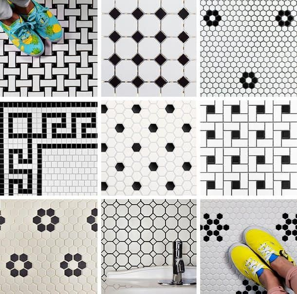 Budget Basics Our Favorite Vintage Mosaic Floor Tiles For The Bathroom Vintage Bathroom Floor Mosaic Flooring Mosaic Floor Tile