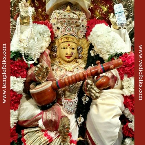 Saraswathi is the goddess of wisdom. worship saraswathi on the last day of navratri is auspicious. It helps to eradicate the negative effects of jupiter planet.