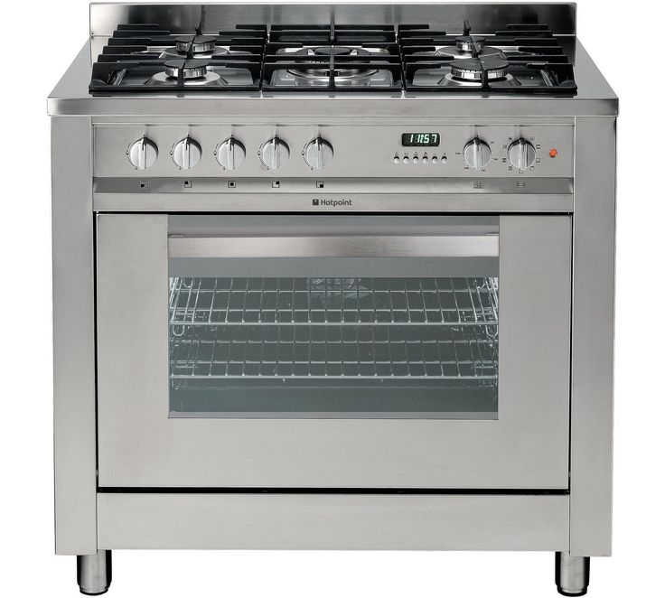 Medium image of buy hotpoint eg900xs dual fuel range cooker   stainless steel at argos co uk